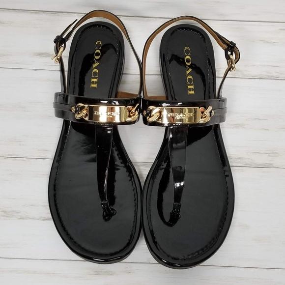 15a3ab5eac8c Coach Shoes - Coach Caterine Flat Slingback Sandal